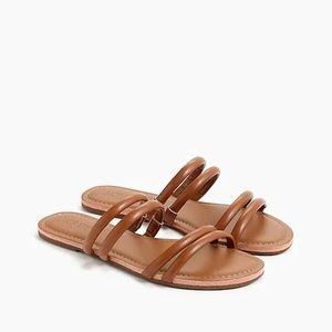 NWT J Crew Factory Seaside slide sandals Sz 7